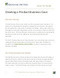 How to Guide - Creating a Product Business Case