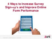 4 Ways to Increase Survey Sign-up's and Improve Online Form Performance