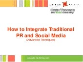 How to integrate traditional PR and...