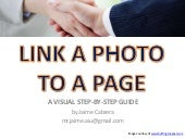 How to Link a Photo to a Page