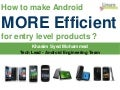 LCE13: How to make Android more efficient