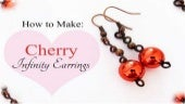 How to Make Cherry Infinity Earrings DIY Jewelry Making Tutorial