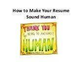 How to Make Your Resume Sound Human