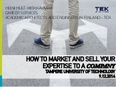 How to market and sell your expertise to a company by heinihm