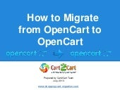 How to Migrate from OpenCart to Ope...