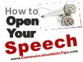 How to Start Your Speech/ Presentation