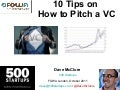 10 Tips on How to Pitch a VC (FOWA, London)