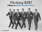 9 Steps to Winning a Sales Pitch