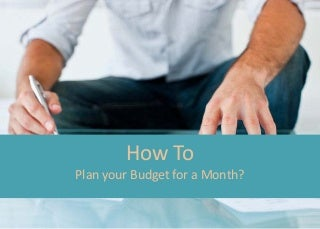 How to plan your budget for the month