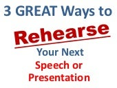 How to practice your speech present...