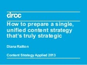 How to prepare a single unified content strategy that's truly strategic