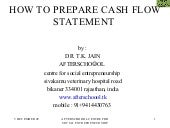 How To Prepare Cash Flow Statement
