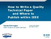 How to publish within IEEE- Tunisia Workshop 2015