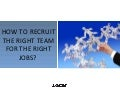 How To Recruit The Right Team