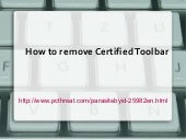 How to remove certified toolbar