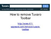 How to Temove Tuvaro Toolbar