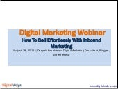 How To Sell Effortlessly With Inbound Marketing