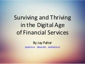 How to survive and thrive in the digital age of financial services