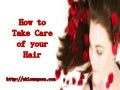 How to take care of your hair