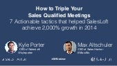 How To Triple Your Qualified Meetings