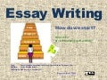 How to write an essay (Revisiting paragraph writing)