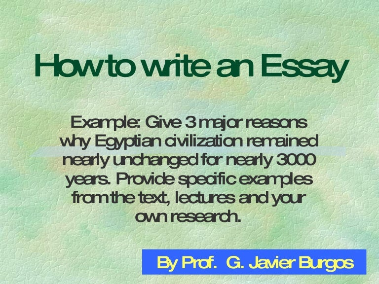 Egypt civilization writing essays for university