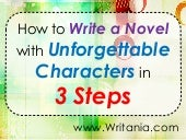 How to Write a Novel with Unforgett...
