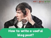 Writing a Useful Blog Post