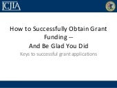 How to write successful grant appli...
