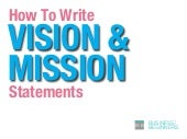 How to Write Vision and Mission Statements For Your Business