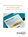 How use twitter busines 2011