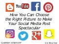 How You Can Choose the Right Picture to Make Your Social Media Post Spectacular