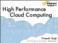 High Performance Cloud Computing