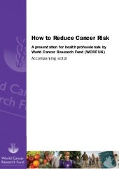 How to reduce cancer risk presentat...
