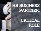 HR Business Partner: Critical Role