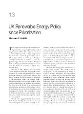 Chapter 13: UK Renewable Energy Pol...