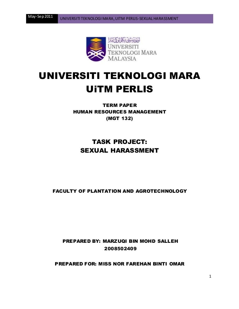 Example research paper uitm. Uitm Research Paper Proposal