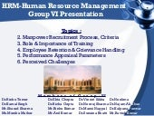 HR Management Presentation 15Sept09...