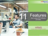 11 Features that a great HRMS  provides | 2016