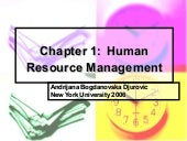 Human Resource Management -1