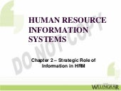 Strategic Role of Information in HRM
