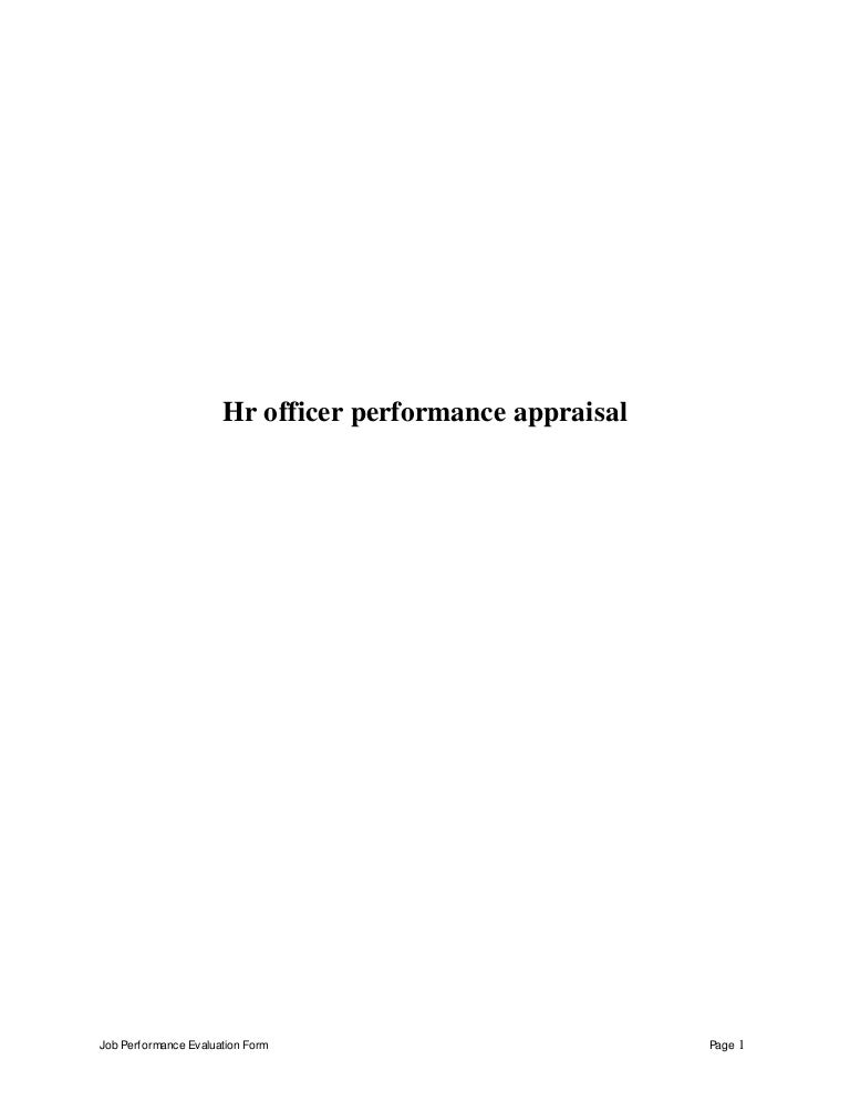Dissertation report on performance appraisal