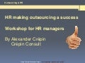 HR & Outsourcing workshop by Alexander Crepin