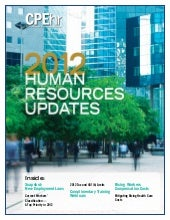 2012 Human Resources Updates