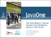 JavaOne 2009 - Full-Text Search: Hu...