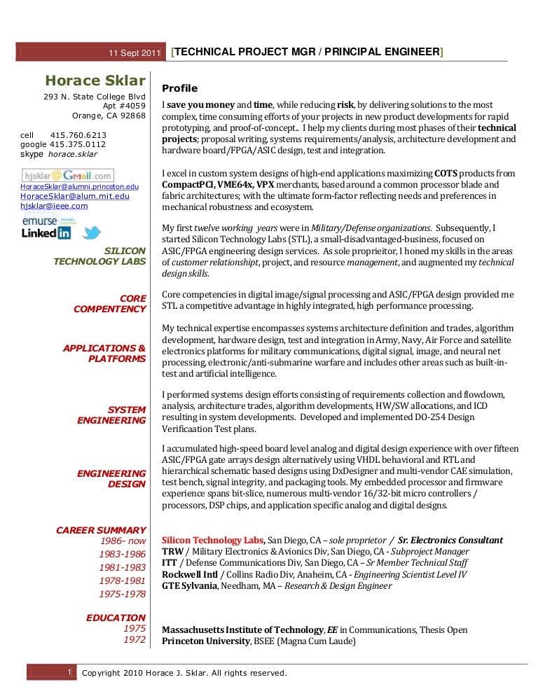 digital electronics engineer resume