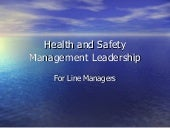 H&S Leadership Line Management