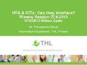 HTA & ICTs: Can they interface? Par...