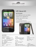 HTC Desire HD 8GB (Unlocked Quadband) 3G Touchscreen GSM Cell Phone