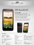 HTC Evo 4G LTE (For Sprint) CDMA Cell Phone